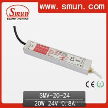 Driver de LED eletrônico impermeável 20W 24V 0.8A