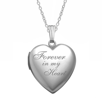 Diy photo pendant that can be kept in my heart forever stainless steel heart-shaped letter pendant necklace