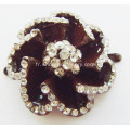 Fleurs attrayantes en alliage strass Lady Shoe Buckle
