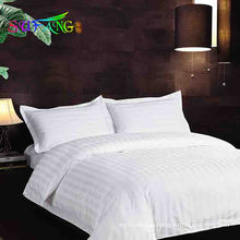 Hotel bedding/Factory luxury hotel standard bedding manufactures usa size,sateen strip bedding set