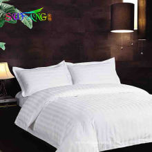 Hotel bedding/Factory luxury hotel standard bedding manufactures usa size,sateen strip bedding set