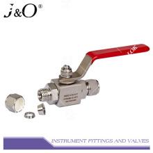 Válvula de esfera de estoque de alta pressão de aço inoxidável