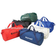 Large Capacity and Strong Duffle Bags, Made of Polyester, Any Colors Available