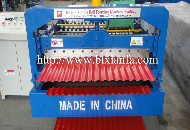 Corrugated Metal Steel Roll Forming Sheet Machine