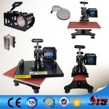 6 em 1 máquina de impressão combinada da imprensa do calor para produtos da sublimação