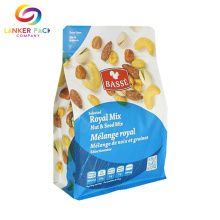 Laminated Aluminum Flat Bottom Pouch For Nuts Packaging