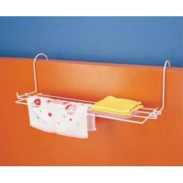 Towel rack for bathroom door with two hooks