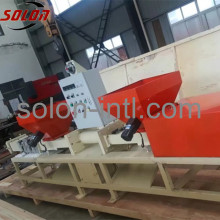 Hydraulic wood pallet block packing machine