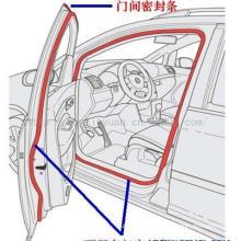 Tiras de borracha personalizadas para automotivo