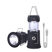Solar Camping Light USB Recargable Supervivencia al aire libre