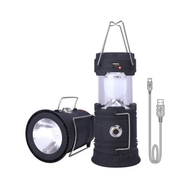Lumière de camping solaire USB Survie extérieure rechargeable