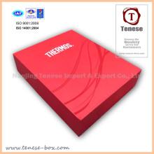 Caja de embalaje de regalo de cartón de lujo rojo para alimentos