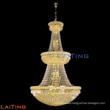 Large design crystay chain pendant chandelier lamp for hotel lobby 6038