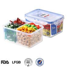 Защитных калиток хранения контейнера wacuum пищевого пластика с 4 отделениями 1200 мл