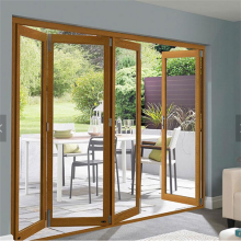 High Grade Aluminium Foldable Glass Doors