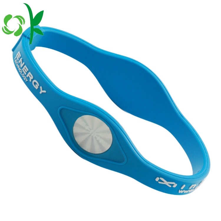 Light Blue Silicone Power Bands