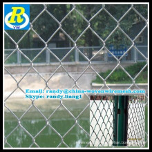 high quality and low price galvanized chain link fence (hot in sale)