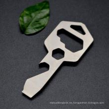 Llavero abrebotellas de titanio Multiherramienta con alta calidad