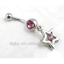 body piercing jewelry crystal anchor navel ring belly button piercing