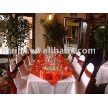 Cubierta de la silla de poliéster, cubierta de la silla del hotel, cubierta de la silla del banquete, marco de satén