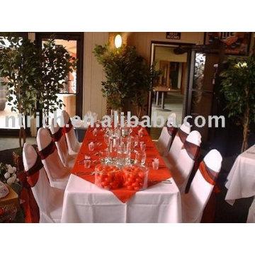 Couverture de chaise de polyester, couverture de chaise d'hôtel, couverture de chaise de banquet, ceinture de satin