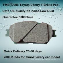 D908 Toyota camry frente carro disco freio pad