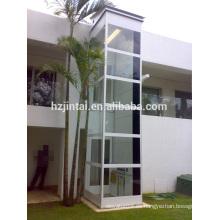 OTSE eje de vidrio estable plataforma de ascensor para casa villa