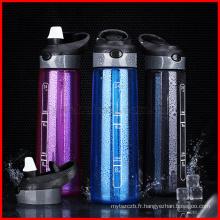 700 ML Bouteille D'eau Mes Sports Bouteilles De Paille Pour L'eau En Plastique Tasse D'eau Portable Poignée Vélo Tumbler Tritan Bouteille De Marque