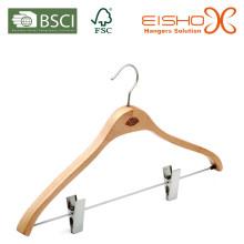 Natural Beech Wood Hanger para hotéis de luxo Amenties