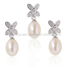 Novos conjuntos de jóias de pérolas