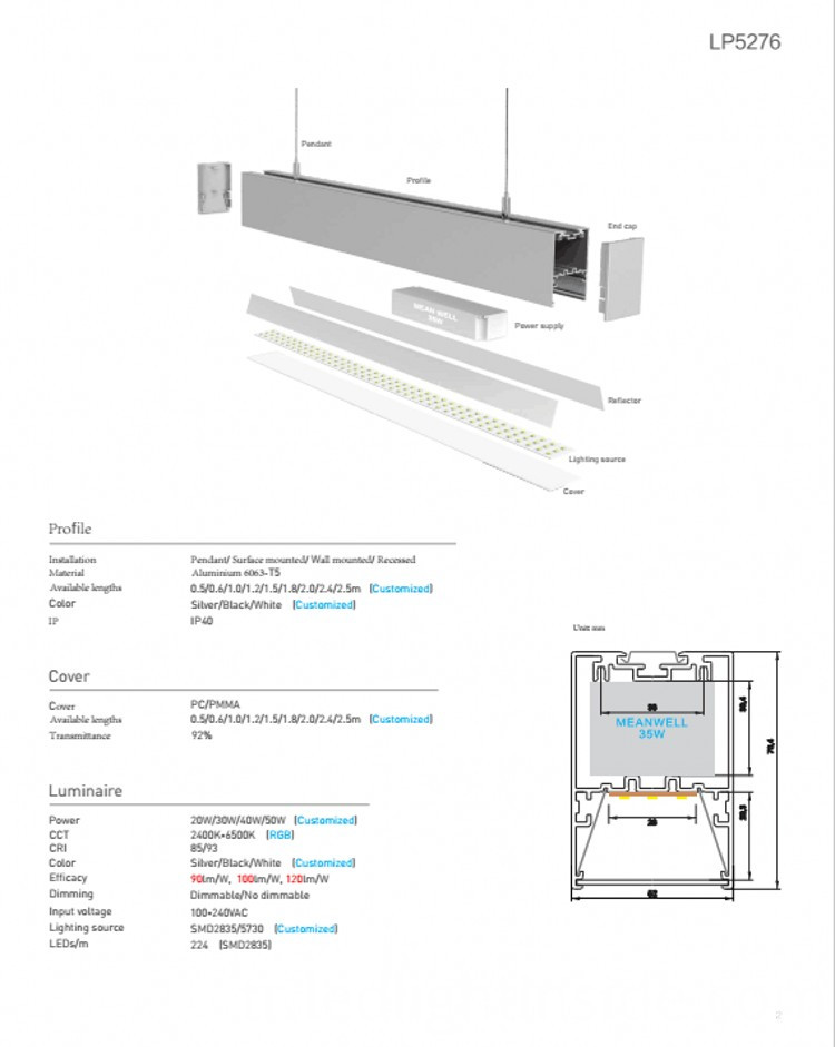 70W LED Linear Light