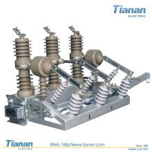 Interruptor de ruptura de carga 12KV 630A 50HZ Distribuição de alimentação ao ar livre Disjuntor de vácuo de alta tensão