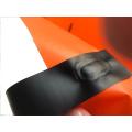 HDPE Shopper Tasche mit farbigen Flexi-Schlaufengriffen