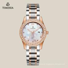 Relógios de aço inoxidável de quartzo personalizados de alta qualidade para senhoras 71061