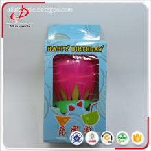 flower birthday candle with music