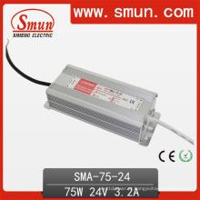 Fonte de alimentação impermeável constante IP67 do motorista do diodo emissor de luz da corrente de 75W 3A IP67