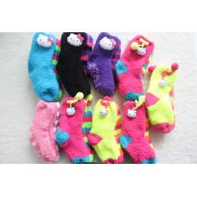 Kinder Lovely Socken Lovely Fluffy mit Tierkopf
