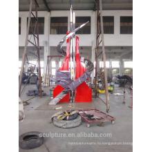 Современная крупная известная скульптура из нержавеющей стали Абстрактная скульптура для наружной отделки