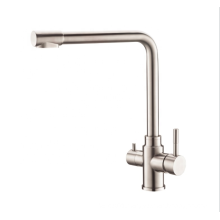 YL-30016 China supplier stainless steel dual handle water ridge kitchen faucet mixer