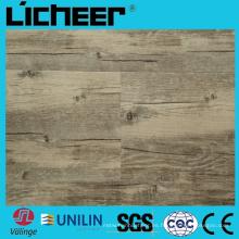 Wpc impermeabilizan el suelo de compuesto del suelo de la cubierta Precio 6.5 milímetros Wpc que cuelga 6inx48in el suelo de madera de alta densidad Wpc