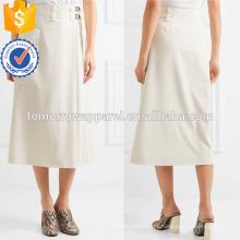 Nova Moda Lã Crepe A-line Envoltório Verão Mini Saia Diária DEM / DOM Fabricação Atacado Moda Feminina Vestuário (TA5017S)