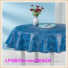 PEVA a imprimé le tissu d'huile de table imperméable pour l'hôtel / mariage / à la maison / partie