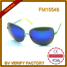 Nuevas gafas de sol de diseño con Metal tendencia Material de la lente