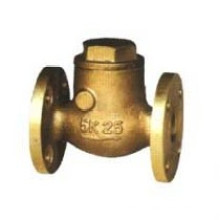Marine Bronze JIS7371 Válvula de retenção 5k Swing