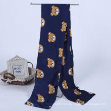 Lady Fashion Printed Satin Seide Magie Mutifunktional Cravat Schal (YKY1091-9)