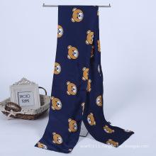 Lady Fashion Printed Satin Silk Magic Mutifunctional Cravat Scarf (YKY1091-9)