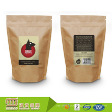 Superior Quality OEM Service Design Printed Stand-up Kraft Paper Bags Resealable with Ziplock