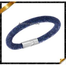 Pulsera de joyería de moda elegante hecho a mano de malla de plata pulseras magnéticas y mujeres brazaletes (fb0131)