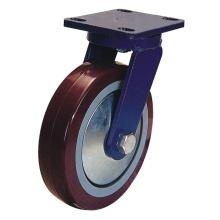 Roulette pivotante PU (rouge)