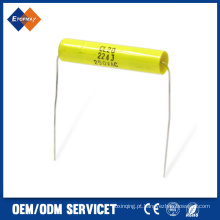 Capacitor de filme de poliéster axial Cl20 0.22UF